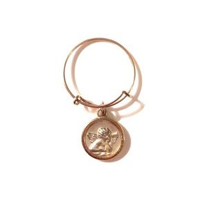 Alex and Ani Cherub Mini Charm Ring